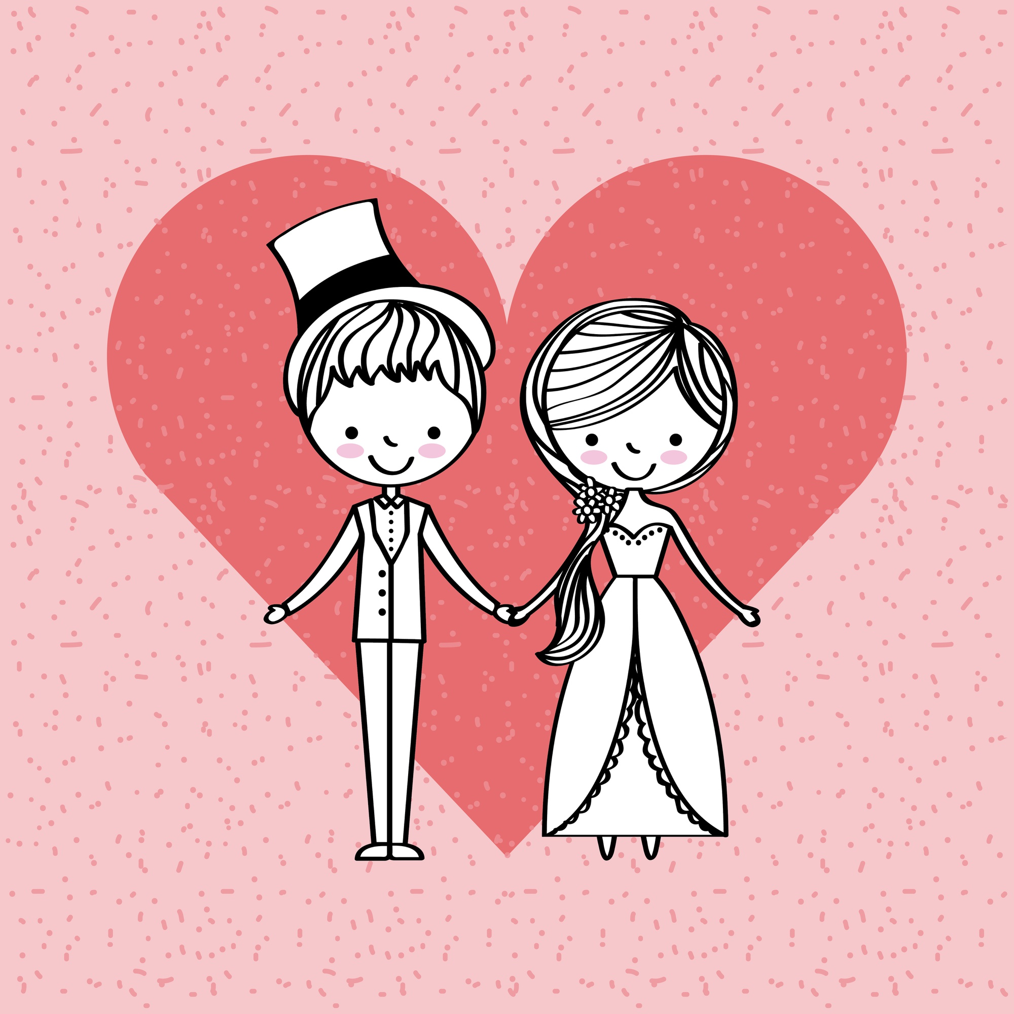 Just married happy