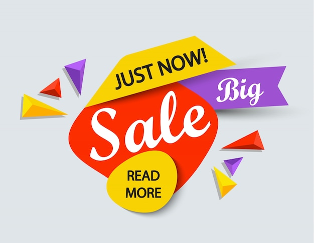 Just now sale banner.