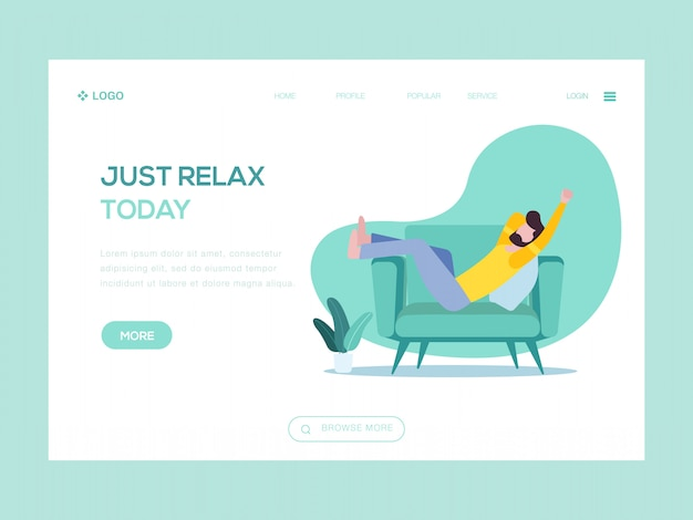 Just relax today web illustration