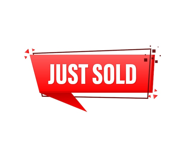 Just sold red label on white