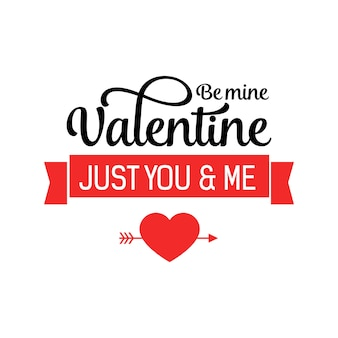 Just you and me lettering