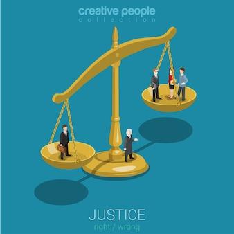 正義と法、判決と決定、法廷