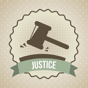 Значок правосудия над бежевым фон векторные иллюстрации