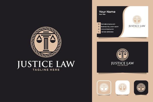 Justice law elegant logo design and business card