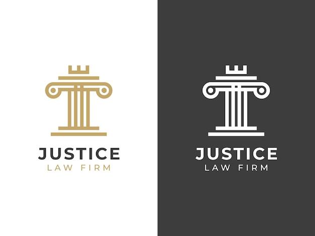 Justice law firm logo design concept