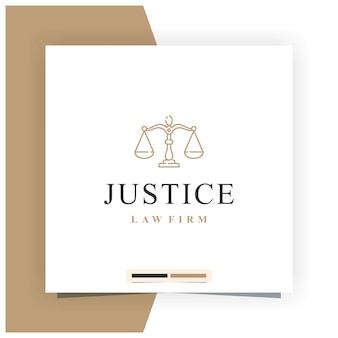 Justice law firm logo design