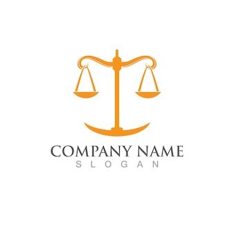 Закон правосудия логотип шаблон вектор illsutration дизайн