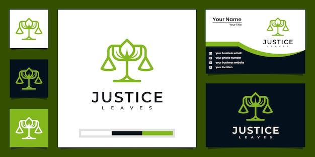 Правосудие оставляет вдохновение для дизайна логотипа и дизайна визитной карточки