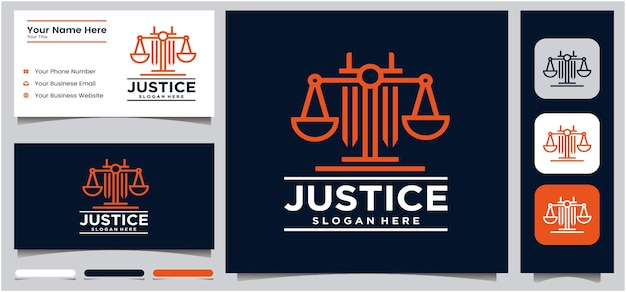 Justice logo universal law lawyer sword scale creative law firm logo design logo template