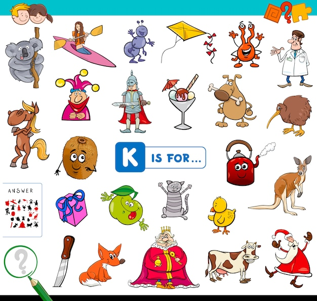 K is for educational game for children