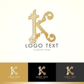 ロゴk、モノグラムk、ゴールド、ベクトルk、ロゴデザイン