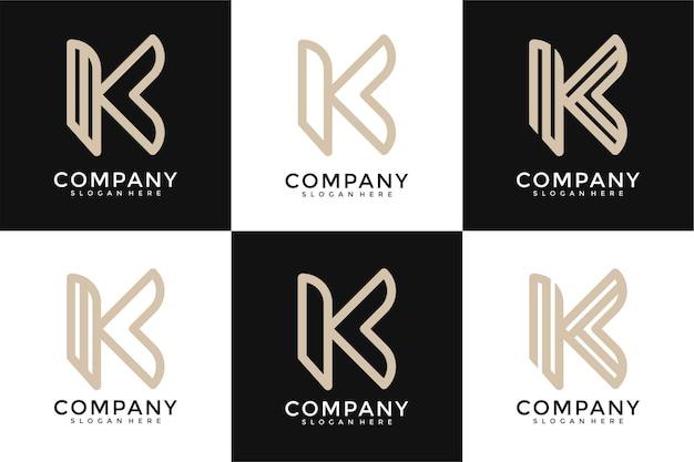 K письмо логотип коллекции вензель