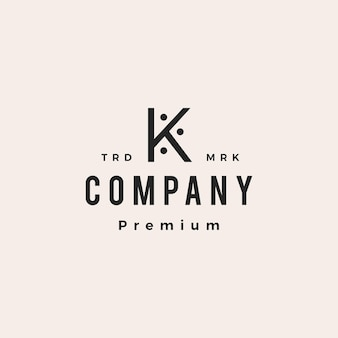 K letter people family human hipster vintage logo vector icon illustration