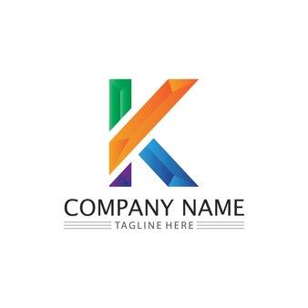 Kロゴデザインk文字フォントコンセプトビジネスロゴベクトルとデザイン初期会社