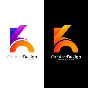 K logo design vector, colorful style
