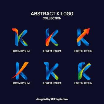 Абстрактные логотипы буквы «k» pack