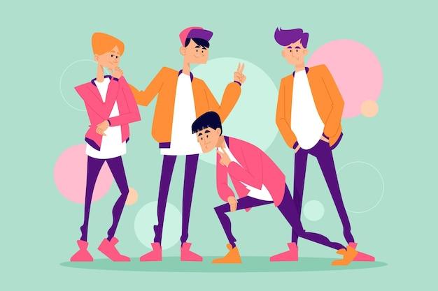K-pop boy group concept