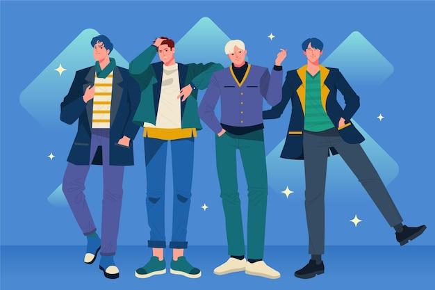 Концепция группы мальчиков k-pop