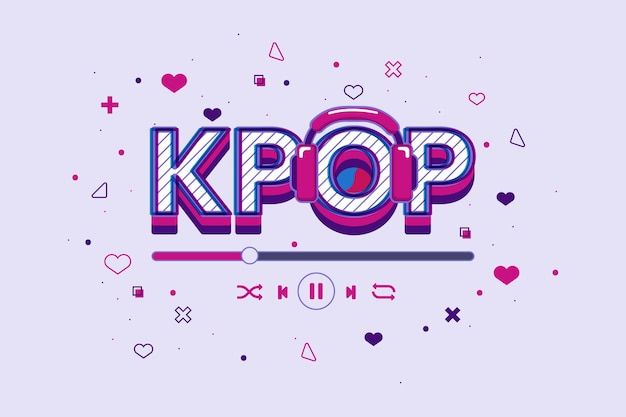 Concetto di musica k-pop illustrato