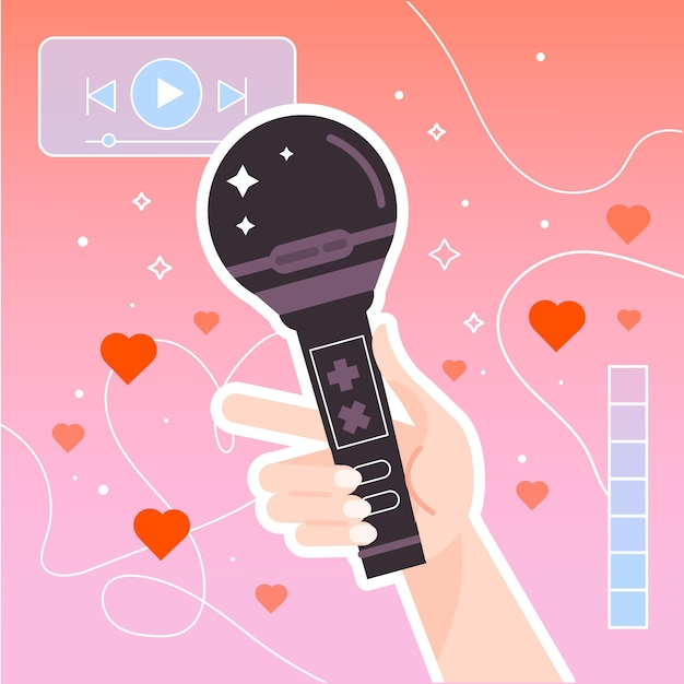 K-pop music concept illustrated