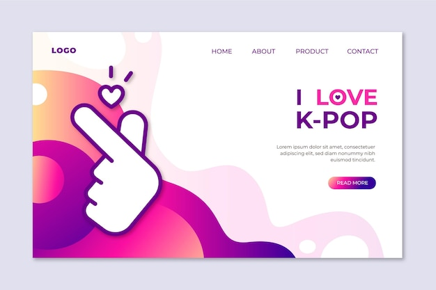 K-pop音楽ランディングページテンプレート