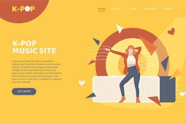 K-pop music landing page theme