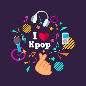 K-popミュージックテーマ