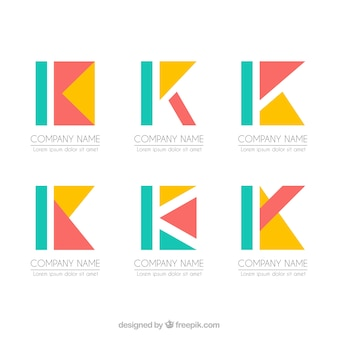 Коллекция шаблонов геометрических букв k