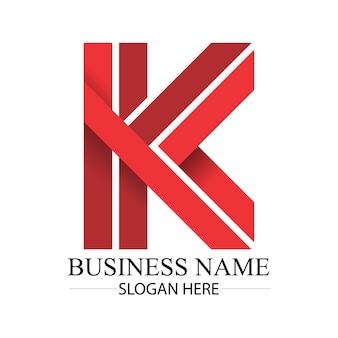 Деловая красная буква k с логотипом