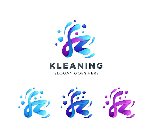 文字kのロゴのテンプレート