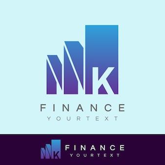 Финансирование начального письма k дизайн логотипа