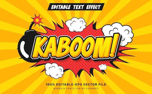 Kaboom comic text effect