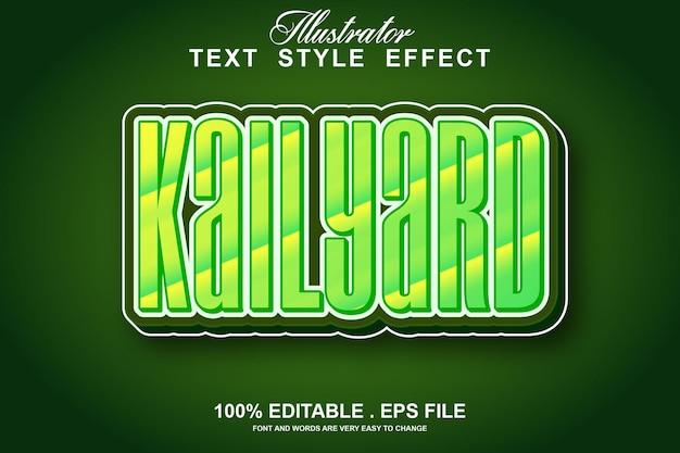 Текстовый эффект kailyard редактируемый