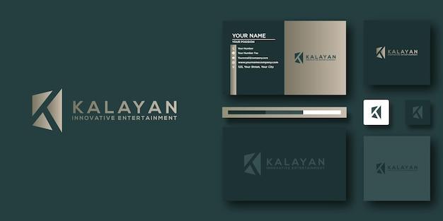 Шаблон логотипа kalayan с современной концепцией