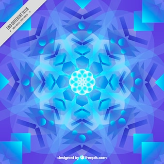 Kaleidoscope background with snowflake shaped