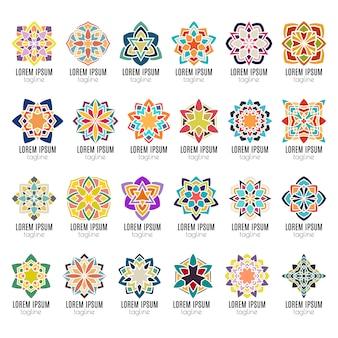 Kaleidoscope mandala icons