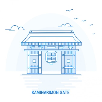 Kaminarimon gate blue landmark