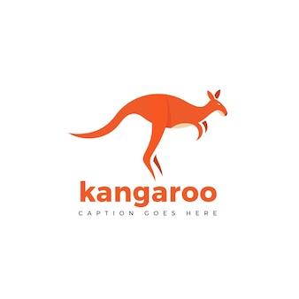 Kangaroo abstract logo vector template