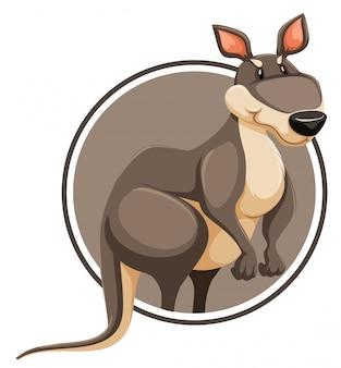 A kangaroo on circle template