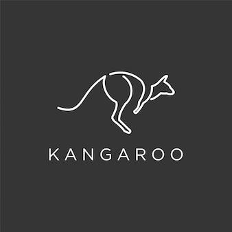 Kangaroo logo dark premium out line