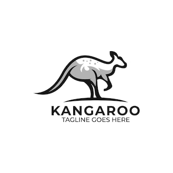 カンガルーのロゴのテンプレート