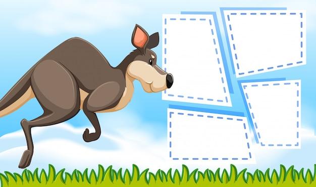 Kangaroo on note template
