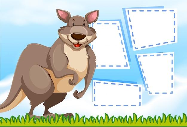 A kangaroo on note