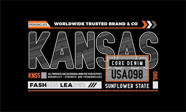 Kansas core denim premium vector