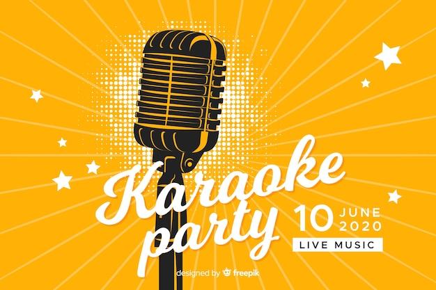 Karaoke banner template flat style
