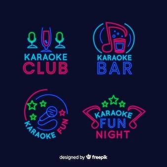 Karaoke club neon light collection