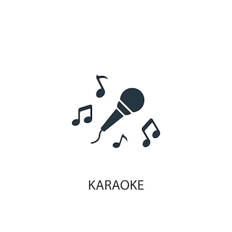 Значок караоке. простая иллюстрация элемента. дизайн символа концепции караоке. может использоваться в интернете и на мобильных устройствах.