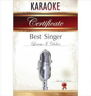 Karaoke party background
