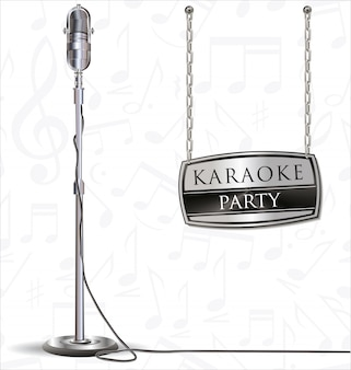 Karaoke party background