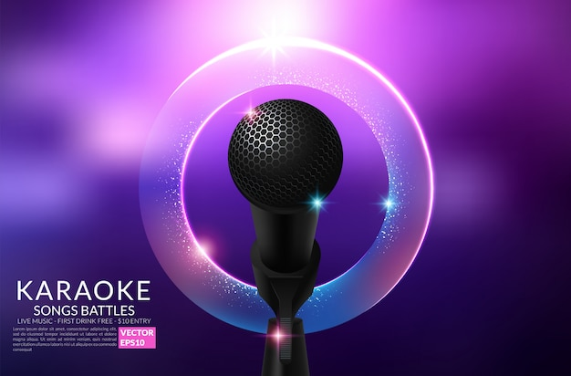 Karaoke party invitation flyer template